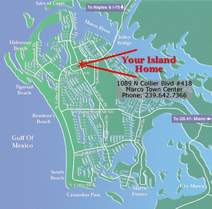 Marco Island Map - Your Island Home